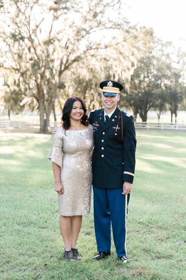 Phary Cottrell and her son 1st. Lt. John Cottrell. Phary Cottrell is a Khmer Rouge survivor who resettled in the United States back in 1981. She went on to earn a college degree, marry and raise three boys.  She now resides in Zephyrhills, Fla.