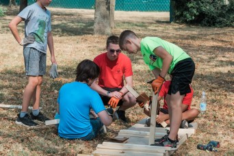 Dog agility obstacle course installed as a part of Eagle Scout project