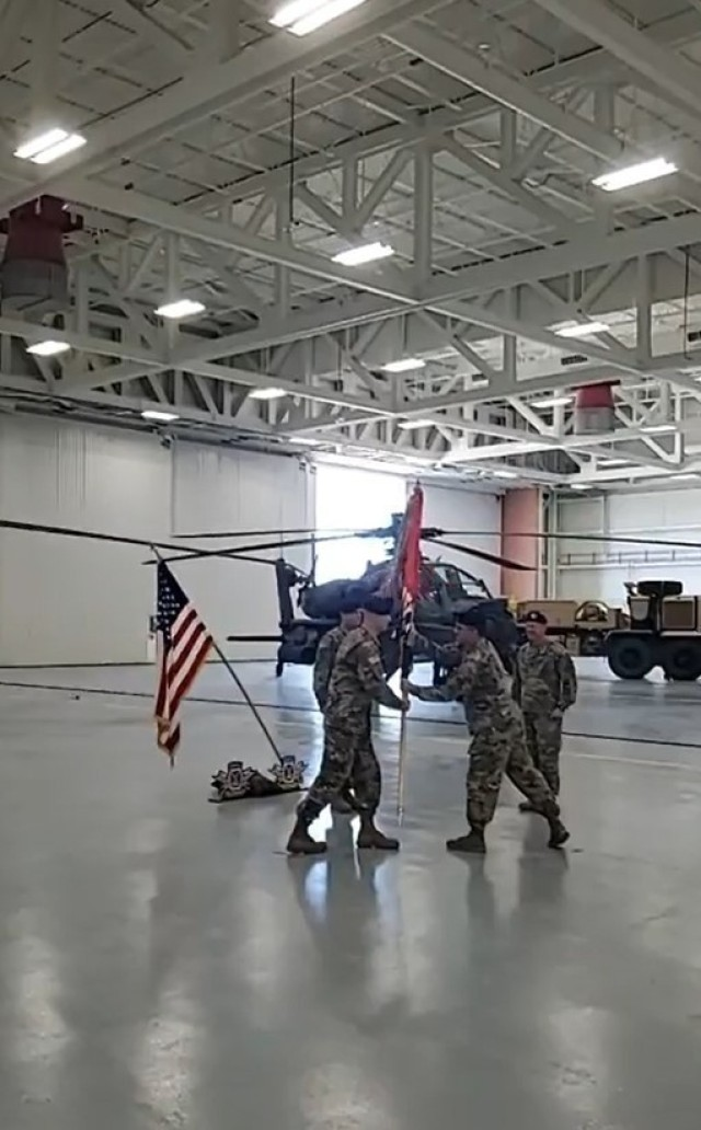 The 10th Combat Aviation Brigade welcomed Col. Travis L. McIntosh as the new brigade commander and bid farewell to Col. Darrell A. Doremus during a change of command ceremony Aug. 14 at Wheeler-Sack Army Airfield. (Screenshot)