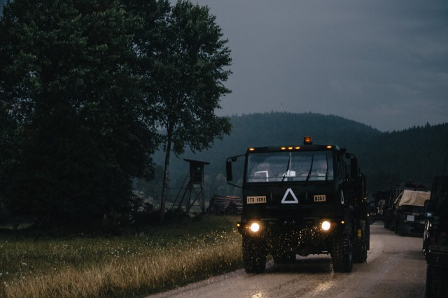 U.S. Army paratroopers assigned to 1st Squadron, 91st Cavalry Regiment, 173rd Airborne Brigade conduct convoy operations in Hohenfels Training Area, Aug. 11, 2020 during Exercise Saber Junction 20.Saber Junction 20 is a 7th Army Training Command-conducted, U.S. Army Europe-directed annual exercise designed to assess the readiness of the U.S. Army's 173rd Airborne Brigade to execute unified land operations in a joint, combined environment, and to promote interoperability with participating allies and partner nations. This year's exercise will take place primarily at 7ATC's Grafenwoehr and Hohenfels Training Areas in Bavaria. U.S. military forces stationed in Europe routinely conduct these types of exercises with allied and partner nations to enhance interoperability and readiness.The 173rd Airborne Brigade is the U.S. Army's Contingency Response Force in Europe, providing rapidly deployable forces to the United States Europe, Africa and Central Command areas of responsibility. Forward deployed across Italy and Germany, the brigade routinely trains alongside NATO allies and partners to build partnerships and strengthen the alliance.(U.S. Army photo by Spc. Ryan Lucas)