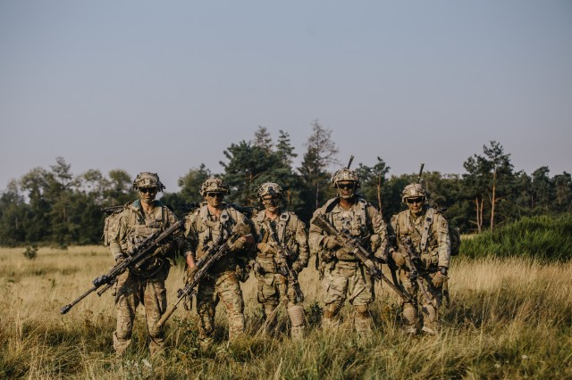 U.S. Army paratroopers assigned to 1st Squadron, 91st Cavalry Regiment, 173rd Airborne Brigade prepare for movement from Grafenwoehr Training Area, Germany to Hohenfels Training Area, Aug. 10, 2020 in preparation for Exercise Saber Junction 20.The 173rd Airborne Brigade is the U.S. Army's Contingency Response Force in Europe, providing rapidly deployable forces to the United States Europe, Africa and Central Command areas of responsibility. Forward deployed across Italy and Germany, the brigade routinely trains alongside NATO allies and partners to build partnerships and strengthen the alliance.(U.S. Army photo by Spc. Ryan Lucas)