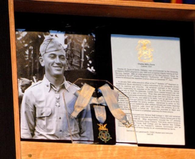 Col. Charles W. Davis' Medal of Honor on display