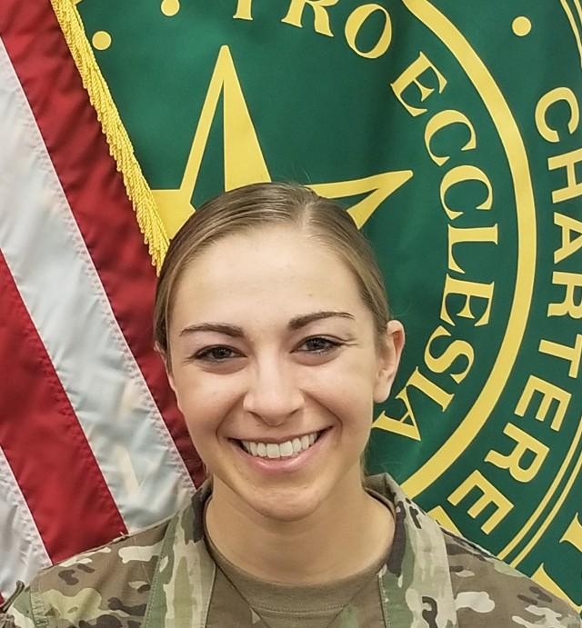 1st Lt. Nichelle Pascoe, Phase 2/Hospital-Based Training site intern, Fort Benning, Ga.