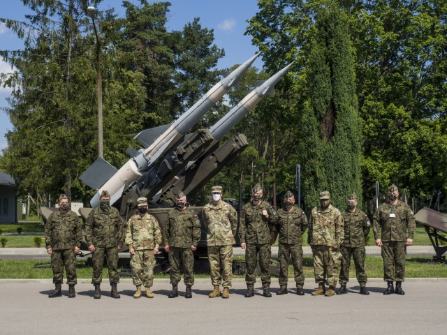 Brig. Gen. Gregory Brady, the commander of the 10th Army Air and Missile Defense Command, visits Poland on Aug. 11-12 at the request of Polish Col. Kazimierz Dynski, commander of the 3rd Surface to Air Defense Brigade, in order to facilitate the planning and execution of future exercises in the European theater.U.S. Army Photo By 1st Lt. Jacob Moffatt