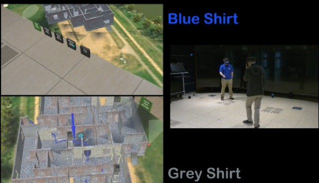 Su and his colleagues synchronized the view of multiple Microsoft HoloLens devices so that Army researchers can collaborate and view the same virtual environment.