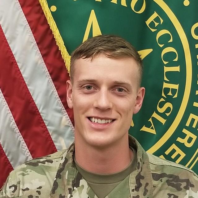 1st Lt. Tyler Smith, Phase 2/Hospital-Based Training site intern, Fort Benning, Ga.