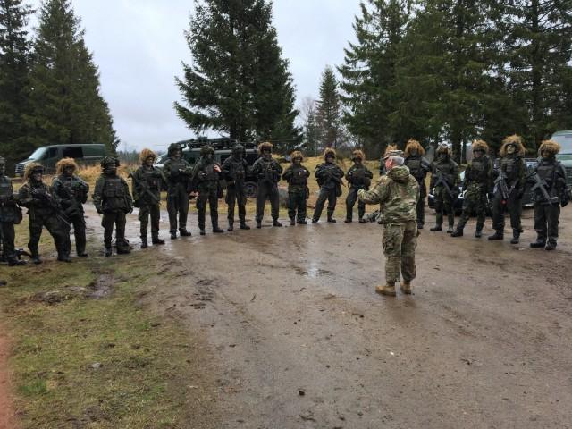 U.S. Army Brig. Gen Gregory Brady visits Swedish Air Defence Regiment in Halmstad, Sweden on Feb. 21, 2020.