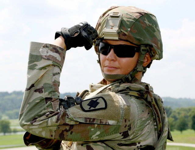 Soldier is 1st woman to command MONG infantry rifle unit