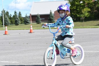 Steering toward safety: Fort Drum children have fun, learn proper riding skills at FMWR Bike Rodeo