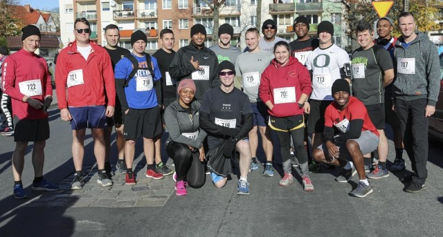 Soldiers with the 2nd Armored Brigade Combat Team, 1st Cavalry Division, joined local civilians for the Independence Day Zagan 10k in Zagan, Poland, Nov. 11, 2019. It is the 101st anniversary of the end of World War I, which marks Poland's Independence Day. (U.S. Army Photo by Staff Sgt. Gregory Stevens)