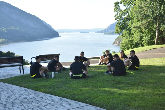 "Upperclass cadets took part in a two-week program called Cadet Leader Development ran by other cadets and faculty. The program allowed difficult discussions on various topics. The core aspect of the training involved ""Tree Talks,"" where cadets sat outside and had one-to-one personal discussions in an informal setting on a multitude of issues that affect their lives.            									                                            Courtesy Photo"
