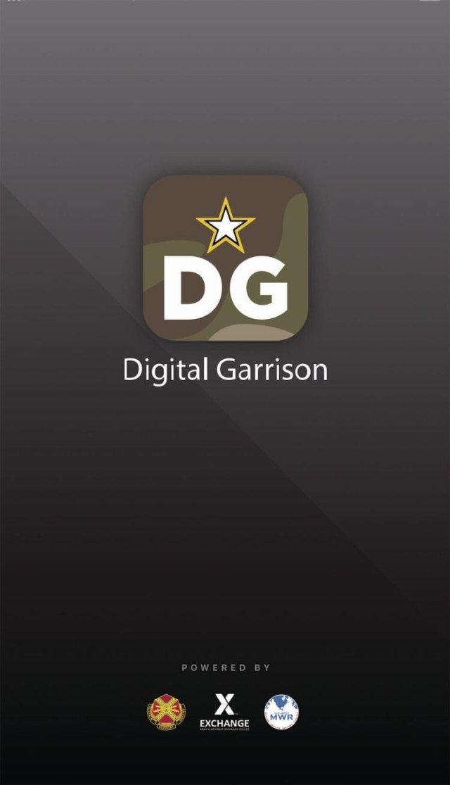 A screenshot of the new Digital Garrison mobile app, availalbe on either the Apple or Google Play app stores.