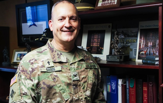 Chaplain Col. Keith N. Goode is the current U.S. Military Academy Chaplain. He previously served at the Pentagon as the executive officer for the Chief of Chaplains.