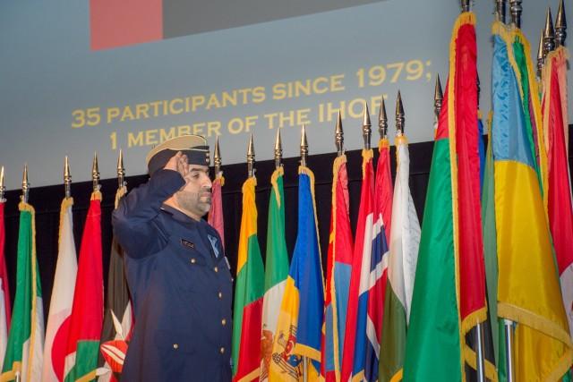 UAE Student at CGSOC Flag Ceremony