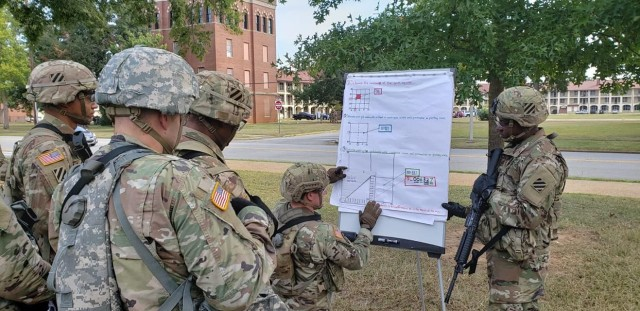 "FORT BENNING, Ga. – In a February 2020 photo, students attending the Basic Leader Course of the Henry Caro Noncommissioned Officer Academy here train on how to identify a six-digit map grid. Leadership, along with lethality, were the focus of the 2020 Virtual Maneuver Warfighter Conference, held Sept. 9-10 with the official theme of ""Delivering Lethality and World-Class Leaders."" To help limit the spread of COVID-19, the conference was live-streamed. Fort Benning's U.S. Army Maneuver Center of Excellence hosts the conference yearly in its role as institutional center of the Army's Infantry and Armor branches, which together comprise the maneuver force.(U.S. Army photo courtesy of Henry Caro Noncommissioned Officer Academy)"