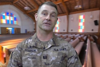 A virtual chapel service with Chaplain (Capt.) Christopher J. Yeargin