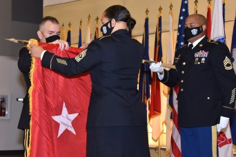 Army Medical Logistics Command commander pins on first star