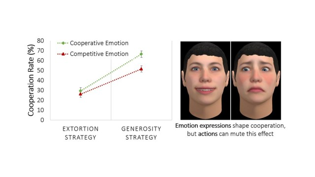 Army researchers found that the effect of emotion expressions is moderated by strategy. People will only process and be influenced by emotion expressions if the counterpart's actions are insufficient to reveal the counterpart's intentions.