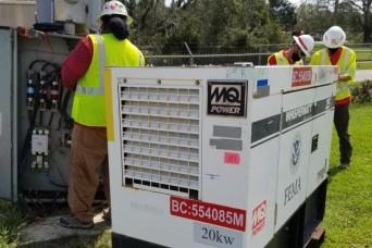 USACE provides temporary emergency power to hard-hit Louisiana