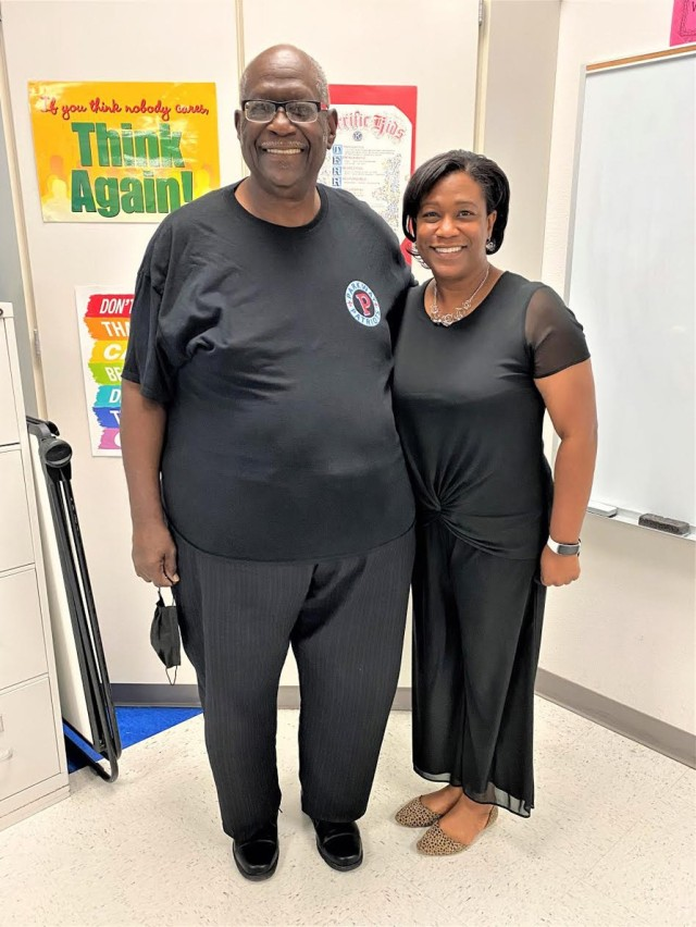 Stacy and Dione Bradford pose together as they prepared for the start of the 2020-2021 school year.  Stacy Bradford, 4th grade teacher and lifelong educator in Vernon Parish is proud that his daughter and the principal of Parkway Elementary School was selected as the Louisiana 2021 Principal of the Year.