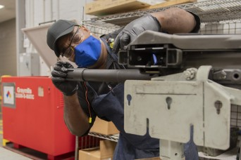 Small Arms inspects, codes MK-19 weapons for future use