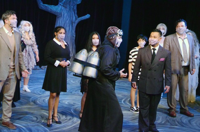 "VICENZA, Italy - ""The Addams Family"" cast members perform during a dress rehearsal Aug. 19, 2020 at Soldiers' Theatre on Caserma Ederle.