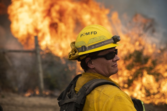 Presidio of Monterey firefighters join effort to battle River, Carmel Fires