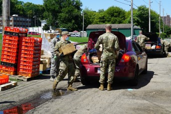 Ohio National Guard food bank support extends to December