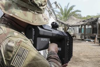 Task Force Bayonet Soldiers train in electronic warfare