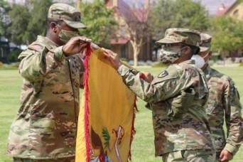 MICC-Fort Bliss battalion uncases colors signifies return