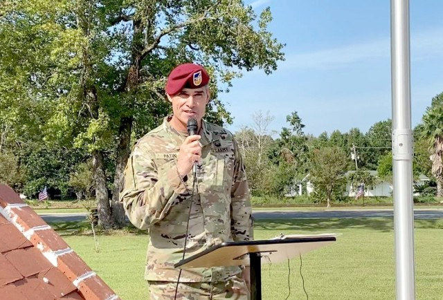 The Joint Readiness Training Center and Fort Polk Chief of Staff, Col. Duane M. Patin served as the keynote speaker for the Anacoco POW/MIA Remembrance Ceremony on Sep. 18.