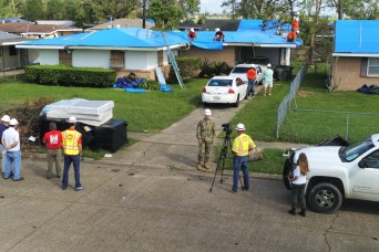 USACE installs 5,000th blue roof on one month anniversary of hurricane's landfall