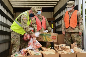 Guard responds after wildfires hinder food bank operations