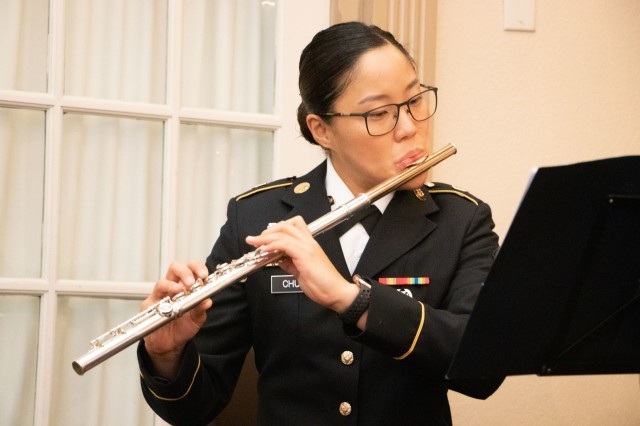 Chung's childhood experience playing recorder, as well as her graduate work in early music history and participation in Stony Brook's Early Music Program, primed her interest in earning a spot in the prestigious Old Guard Fife and Drum Corps.