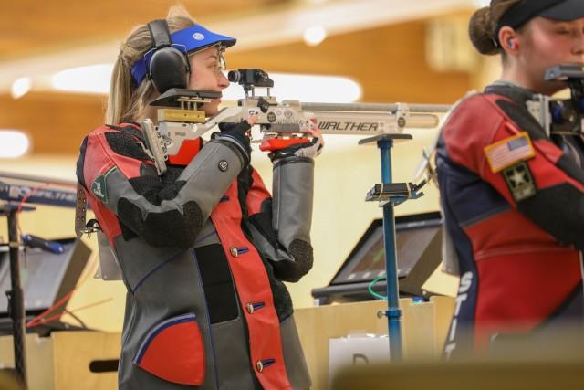 Spc. Alison Weisz competing