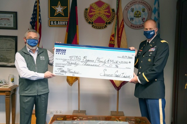 Service Credit Union gives $20,000 back to USAG Bavaria