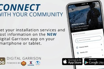 Digital Garrison app reinforces Army's 'People First' initiative