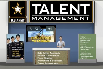 Chat with talent management experts at virtual booth