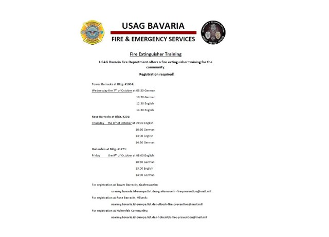 Fire Extinguisher Training Flyer