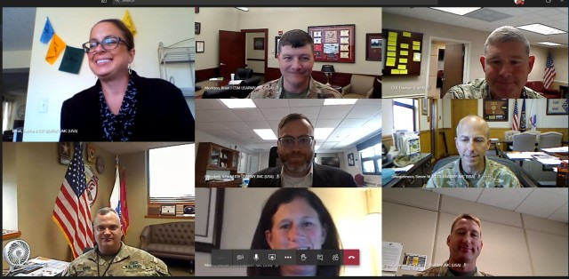 Using Microsoft Teams for the virtual PCO, JMC leaders attend from their current workstations.