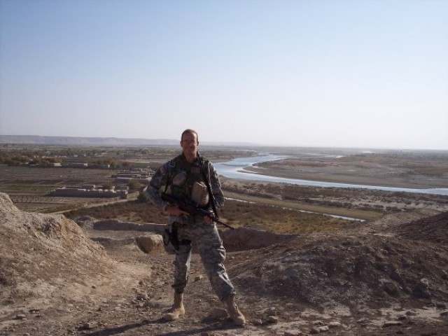 Dollison serving as a captain in Afghanistan.