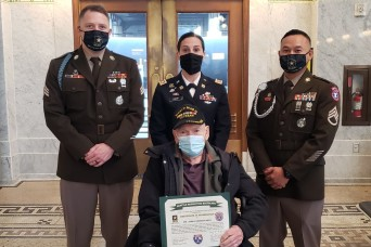 Army recruiters help WWII Veteran fulfill lifelong dream