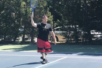 Tennis offers a return to normalcy for Walter Reed SRU Soldiers