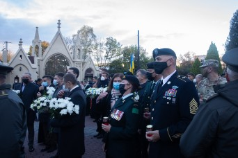 Task Force Soldiers stand with Ukrainian partners on Defender's Day