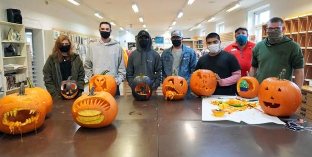 USAG Bavaria BOSS pumpkin carvings