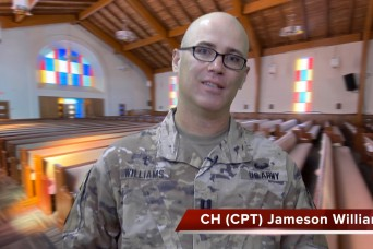 A virtual chapel service with Chaplain (Capt.) Jameson Williams