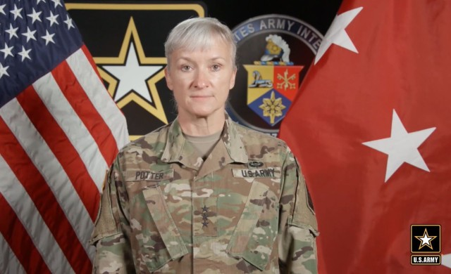 Lt. Gen. Laura Potter, the Army deputy chief of staff, G-2, discusses how the Army is evaluating an artificial intelligence software prototype along with the Tactical Intelligence Targeting Access Node capabilities during this year's Association of the U.S. Army Annual Meeting and Exposition on Oct. 15, 2020.