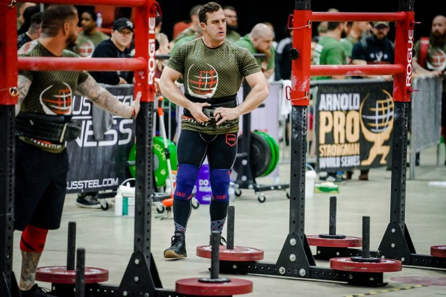 Advisor competes at Strongman Competition