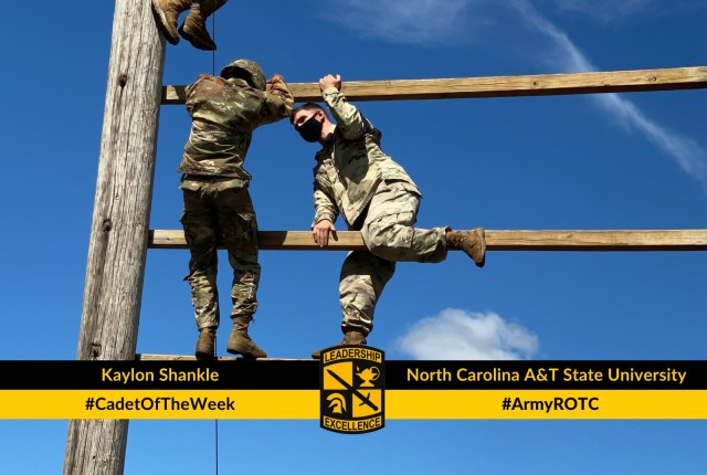 Cadet Shankle overcomes a fear of heights on the Confidence Climb