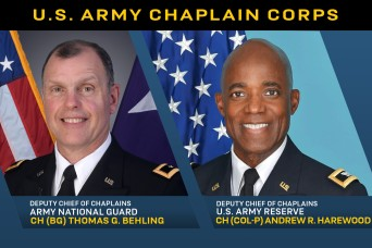 The Army has two new Reserve Component Deputy Chiefs of Chaplains